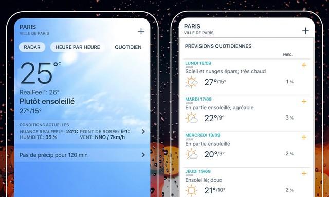 Meilleure Application Météo pour Iphone et Androïde